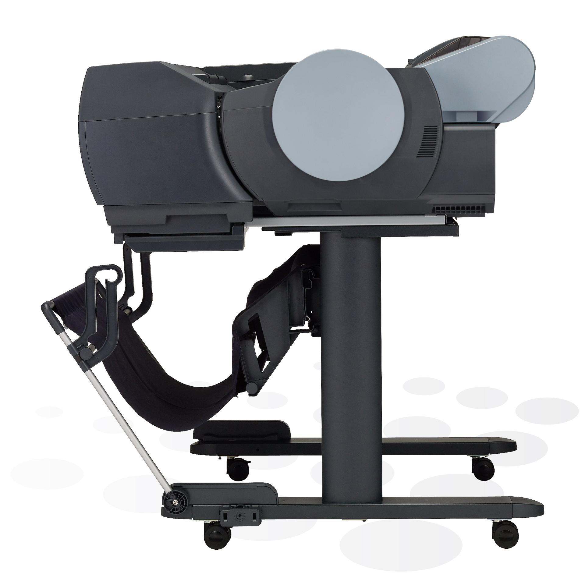 """iPF6400S - 24"""" Fine-Art und POS-Plakatdrucker mit Spektralfotometer (Seitenansicht)"""