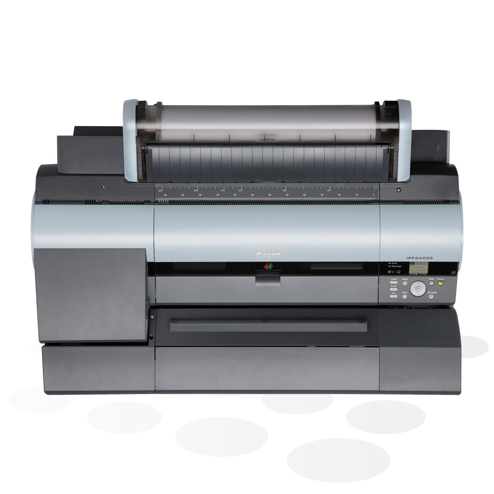 """iPF6400S - 24"""" Fine-Art und POS-Plakatdrucker mit Spektralfotometer (Draufsicht)"""