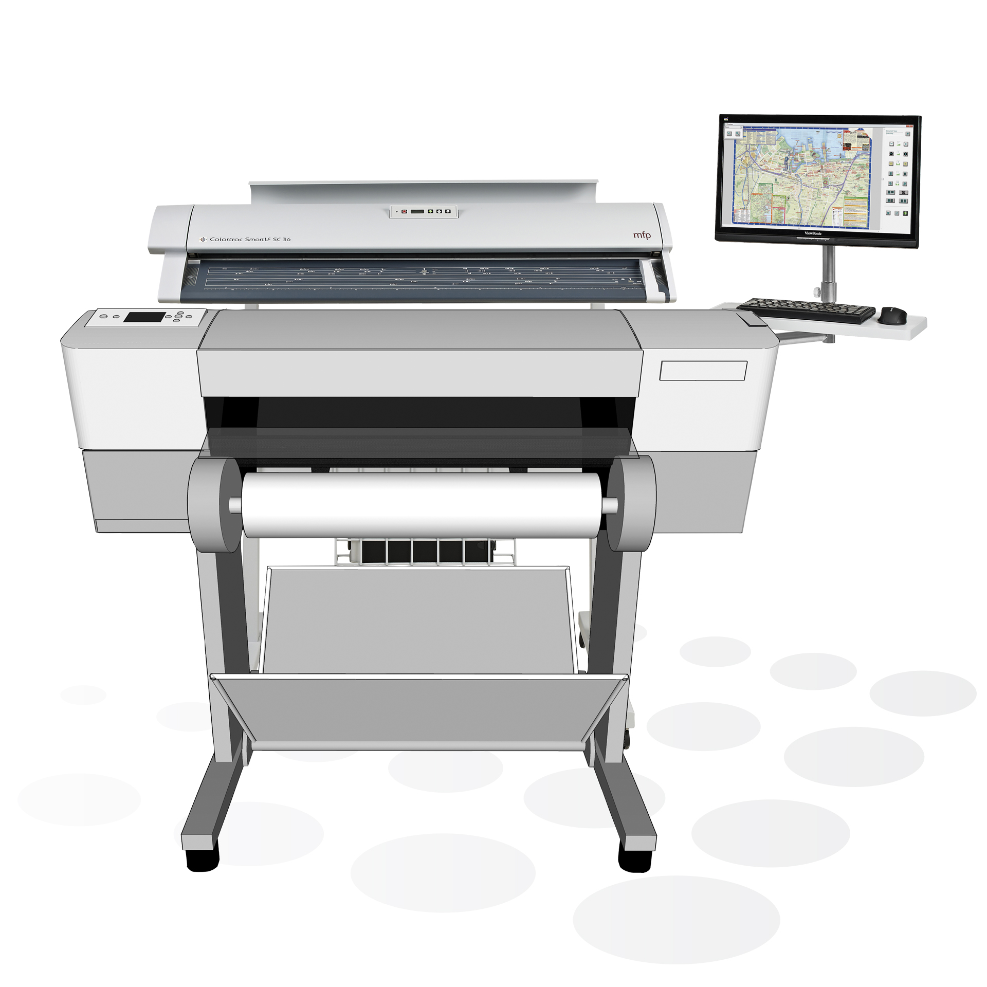 Colortrac SmartLF SC 36 MFP Kombination mit HP Plottern