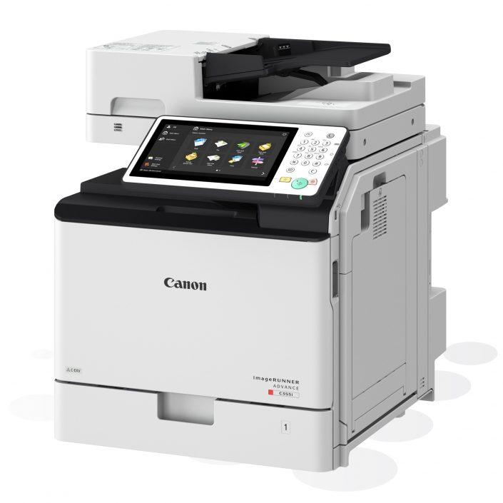 Canon imageRUNNER ADVANCE C255/C355 Seitenansicht mit 1 Papierkassette