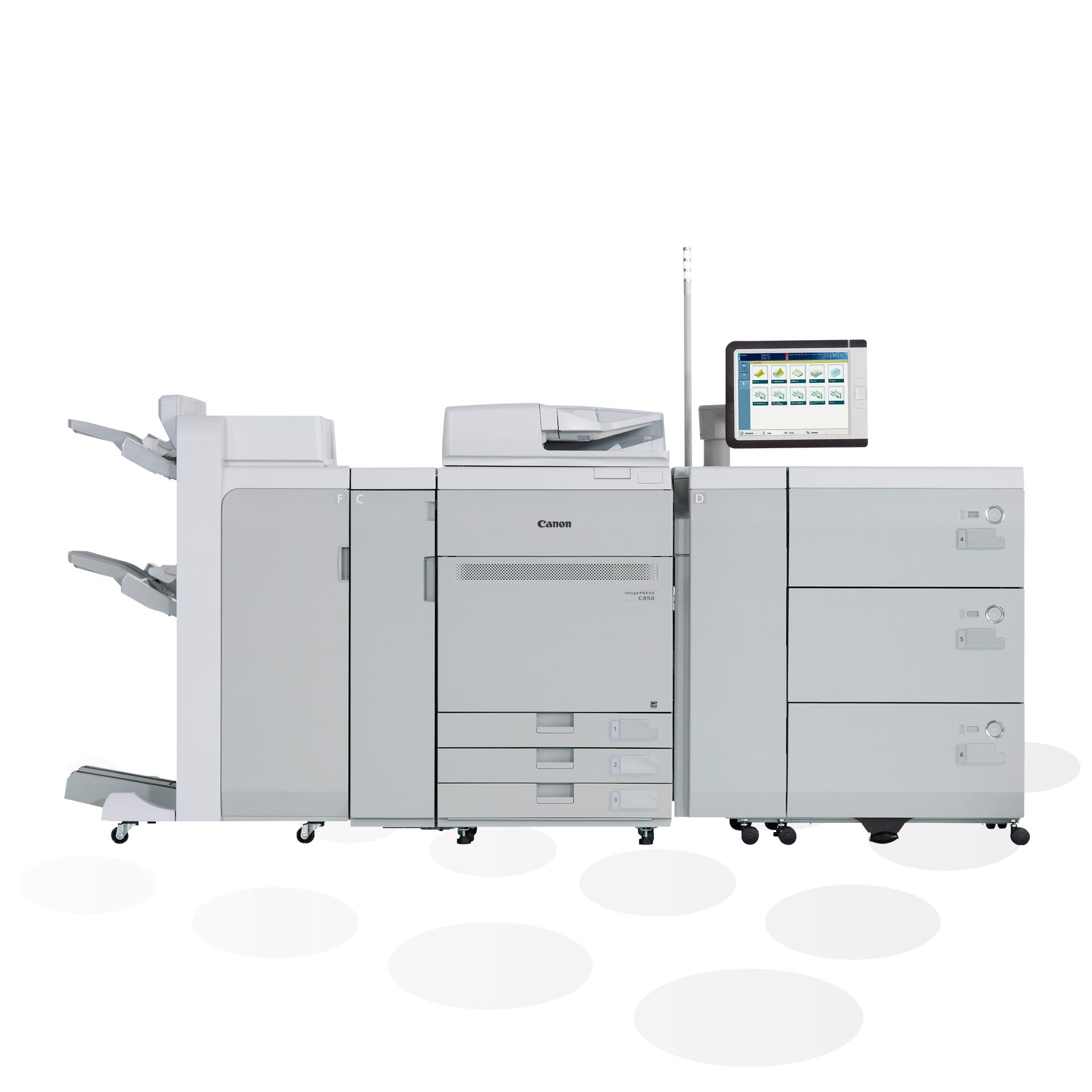 Canon imagePRESS C750/C850 Digitaldruckmaschine Frontansicht